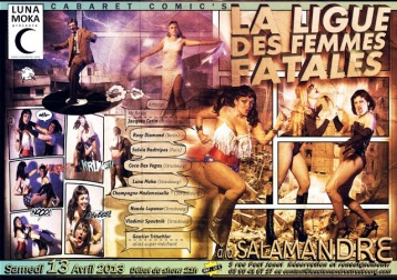 affiche spectacle Salamandre burlesque