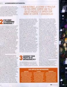 Interview dans GQ france pour le dossier datasexuel novembre 2012
